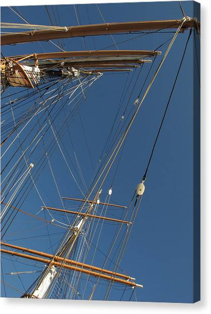 Tall Ship Rigging 1 Canvas Print by Winston  Wetteland