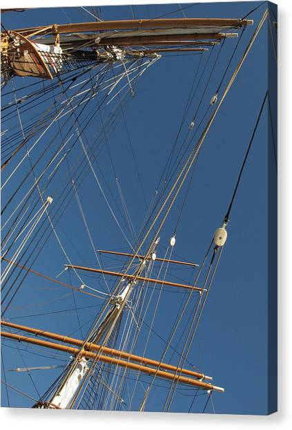 Tall Ship Rigging 2 Canvas Print by Winston  Wetteland