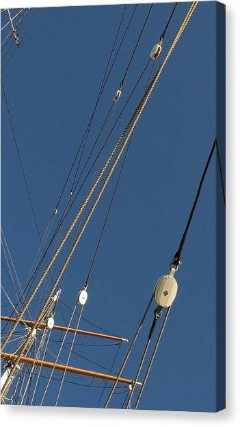 Tall Ship Rigging 3 Canvas Print by Winston  Wetteland