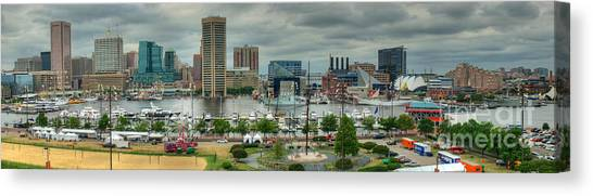 Tall Ships At Baltimore Inner Harbor Canvas Print