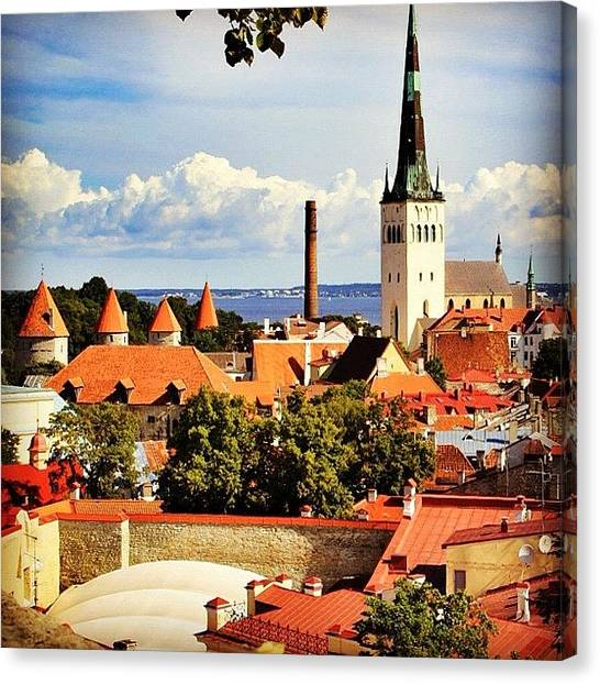 House Canvas Print - Tallinn - Estonia by Luisa Azzolini