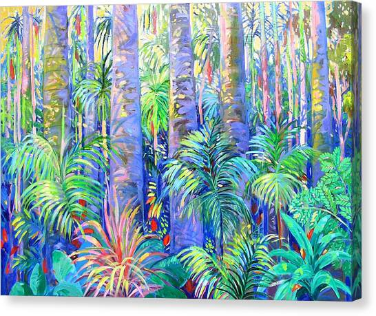 Canvas Print featuring the painting Tamborine Rainforest No. One by Virginia McGowan
