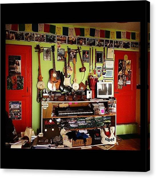 Guitars Canvas Print - #tamding #tattoo #studio #guitar #music by Sahil Gupta