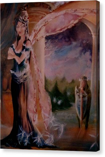 Tamlin Fairy Queen Poem Canvas Print - Tamlin by Jackie Rock