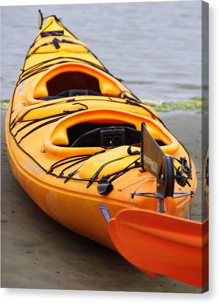 Tandem Yellow Kayak Canvas Print