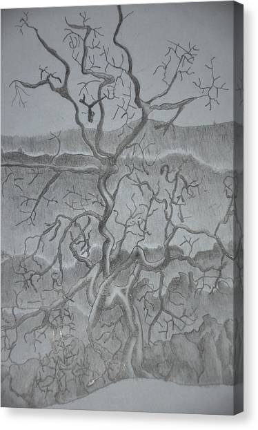 Tangled Tree Of A Lonely Mind Canvas Print
