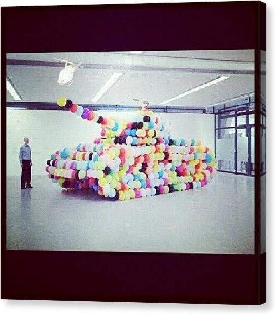 Tanks Canvas Print - #tanks #baloons #rainbow #colourfull by Yeny Yustin
