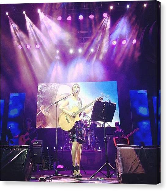 Celebrities Canvas Print - Tanya Chua In The House by Jerry Tang