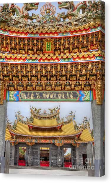 Taoist Temple 8 Canvas Print by Tad Kanazaki