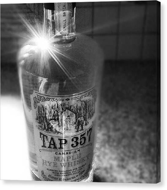 Whiskey Canvas Print - Tap 357 Black And White by Joanna Boot