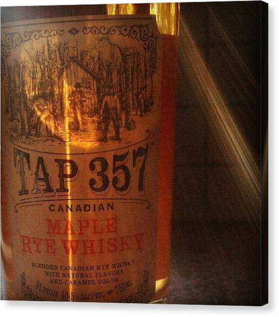 Whiskey Canvas Print - Tap 357 by Joanna Boot