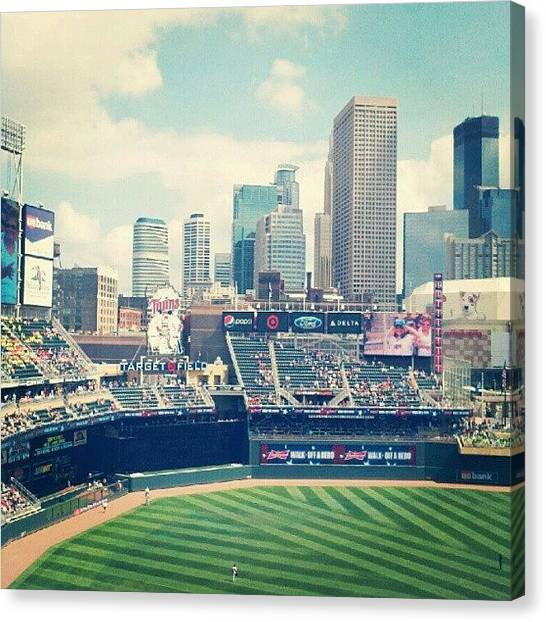 Minnesota Twins Canvas Print - Target Field by Amber Abreu