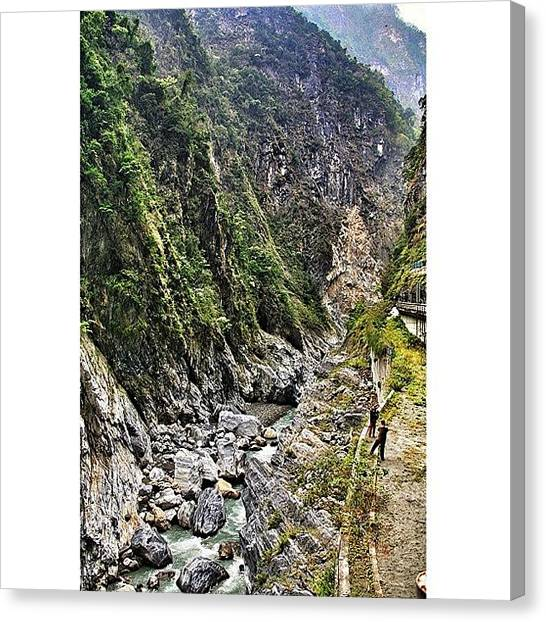 Trip Canvas Print - Taroko National Park (chinese: by Tommy Tjahjono