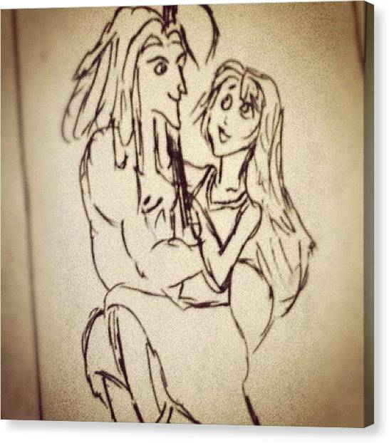 Jungles Canvas Print - #tarzan & Jane 😊💏 #disney by B C