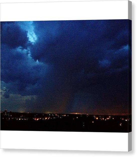 Lightning Canvas Print - Taste The Rainbow #weather #lightning by Elza Hayen