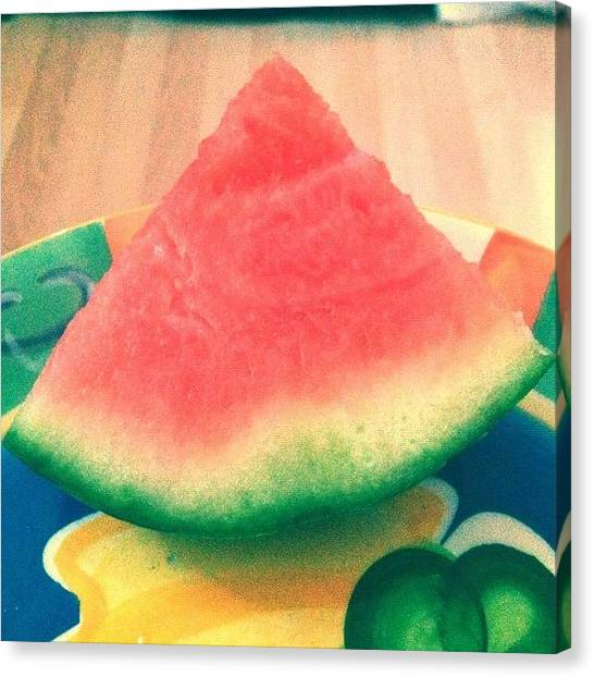 Watermelons Canvas Print - Tasty Summer Treat! 🍉 Watermelon! by Danielle N