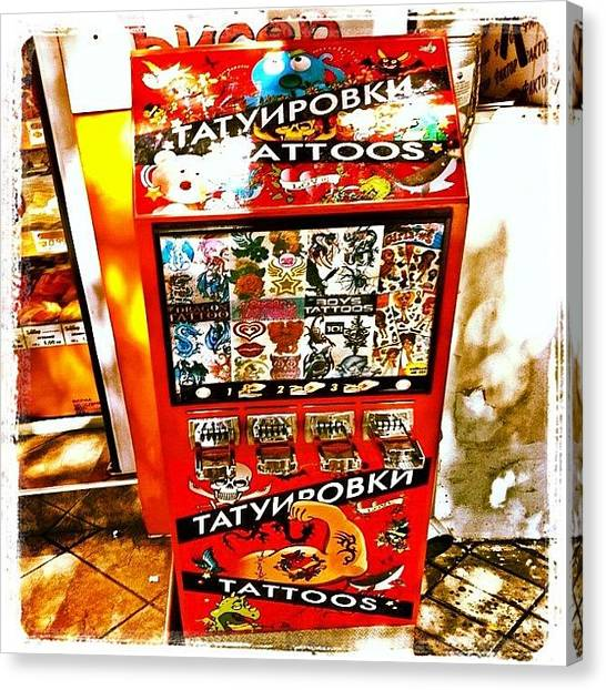 Tattoo Vending Machine. #varna #tattoo Canvas Print by Richard Randall