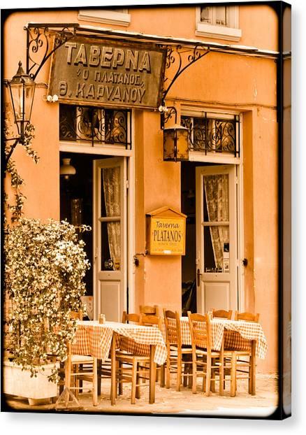 Athens, Greece - Taverna Canvas Print