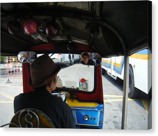 Taxi Ride Through Bangkok Canvas Print