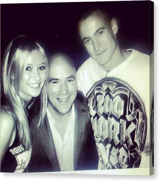 Ufc Canvas Print - #tbt @djbrunz & I With Dana White! So by Lindi Morris