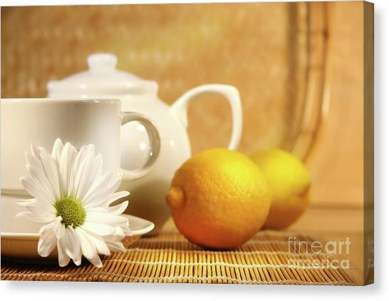 Tea And Lemon Canvas Print