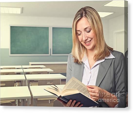 Teacher Portrait Canvas Print