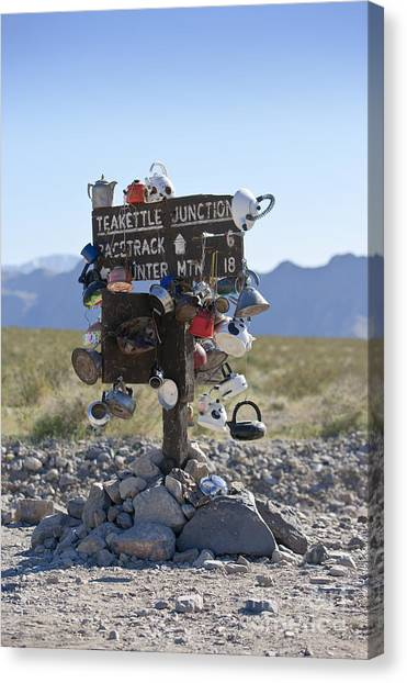 Teakettles Canvas Print - Teakettle Junction, Death Valley, California by David Buffington