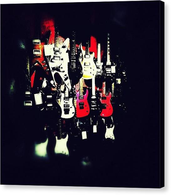 Guitars Canvas Print - #teamlowry #instagramhub #instagram by Asaf S