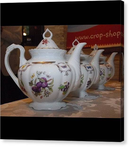 Kings Canvas Print - #teapots At A #teaparty #nofilter by Cai King-Young