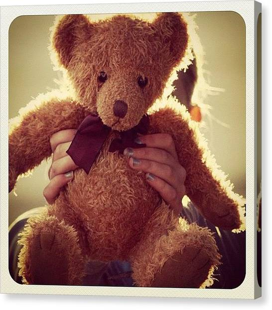 Bears Canvas Print - Teddy Bear #girls #look #beautiful by May Pinky  ✨