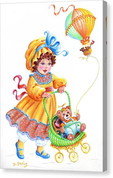 Teddy Bears And Me In The Children's Parade Canvas Print