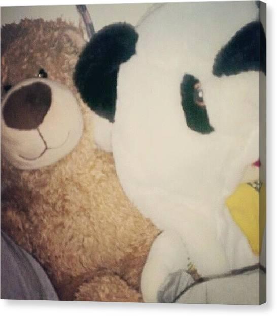 Teddy Bears Canvas Print - #teddy #bears #buildabear #jackwills by Hannah Tan