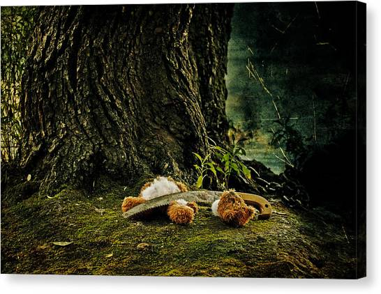 Saws Canvas Print - Teddy With A Saw by Joana Kruse