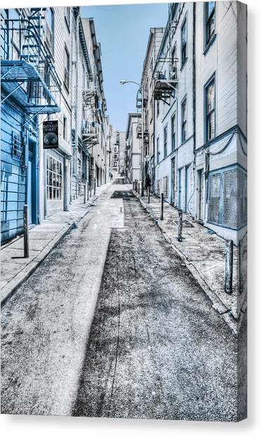 Stark Canvas Print - Telegraph Hill Blue by Scott Norris