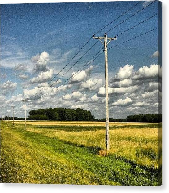 Pennsylvania Canvas Print - #telephonepole #pennsylvania by Maria Firkaly