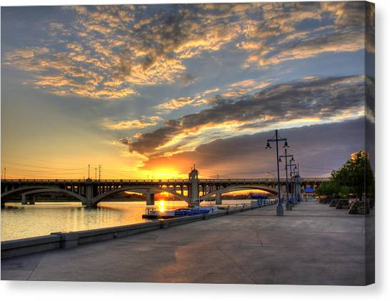 Tempe Town Lake Sunrise Canvas Print