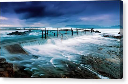 Tempest At The Baths Canvas Print