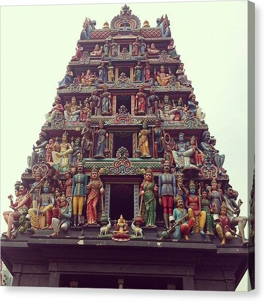 Temples Canvas Print - Temple @ Singapore's Chinatown by Quique Alicante