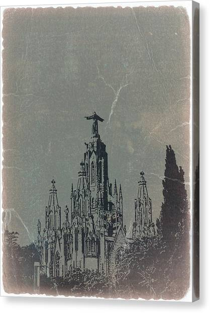 Barcelona Canvas Print - Temple Expiatory by Naxart Studio