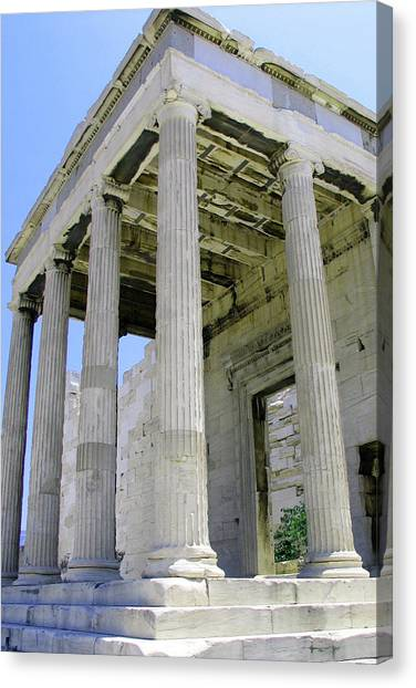Temple Of Athena Entrance Canvas Print