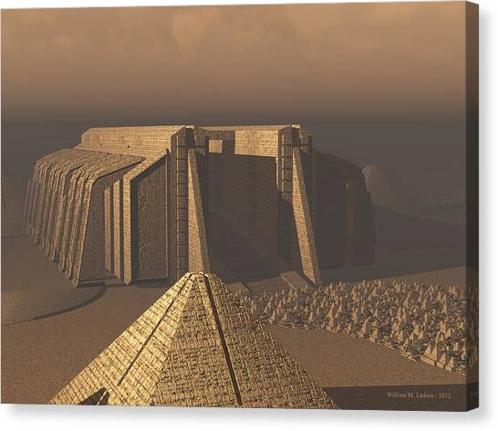 Temple Of Neoegypt Canvas Print