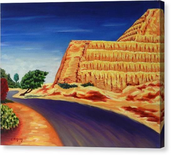 Temple Of The Sun , Peru Impression Canvas Print