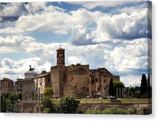 Venus Canvas Print - Temple Of Venus And Roma by Fabrizio Troiani