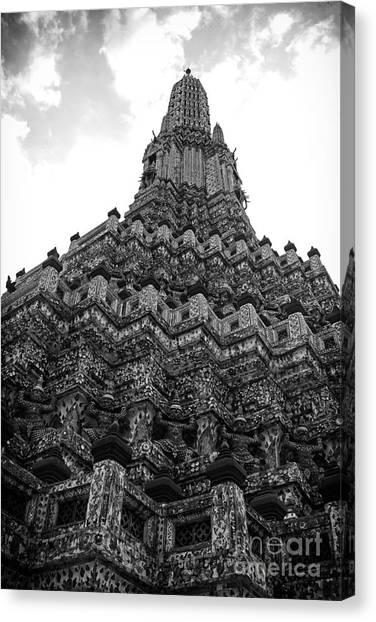 Temple Pillar Canvas Print