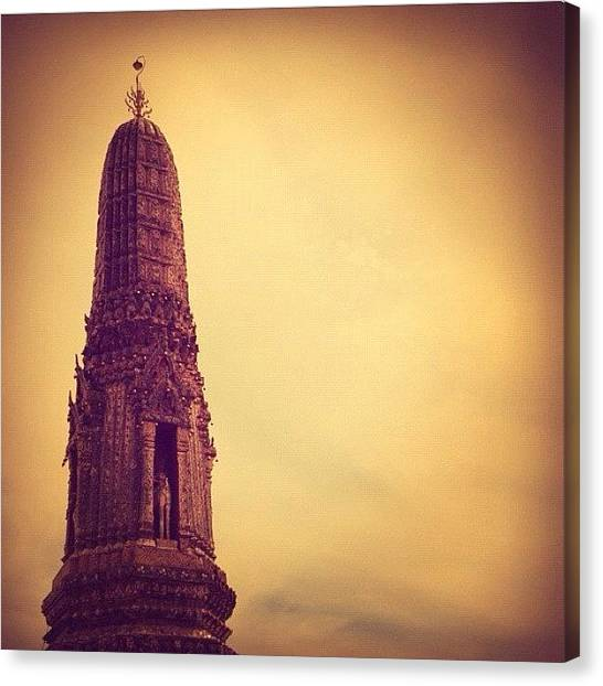 Temples Canvas Print - #temple #sky #top #thailand by Joshua Buana