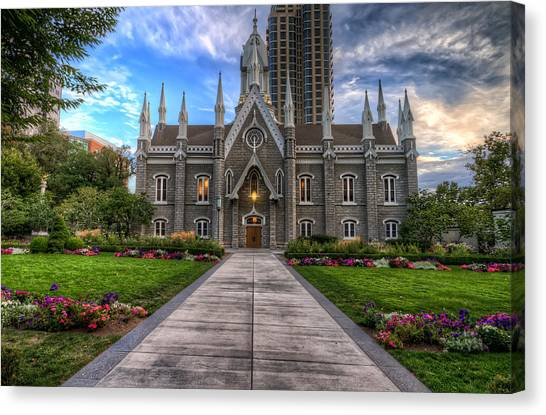 Temple Square Assembly Hall Canvas Print