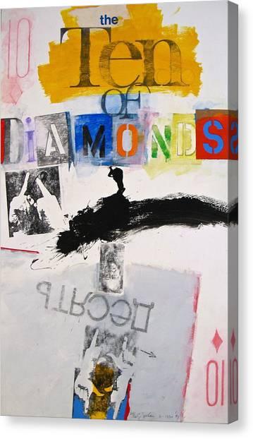 Ten Of Diamonds 24-52 Canvas Print