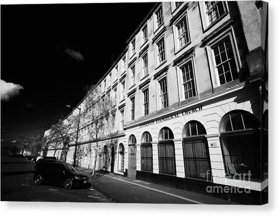 tenement block on minerva street finnieston Glasgow Scotland UK Canvas Print by Joe Fox