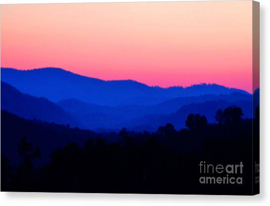 Tennessee Sunset Canvas Print by EGiclee Digital Prints