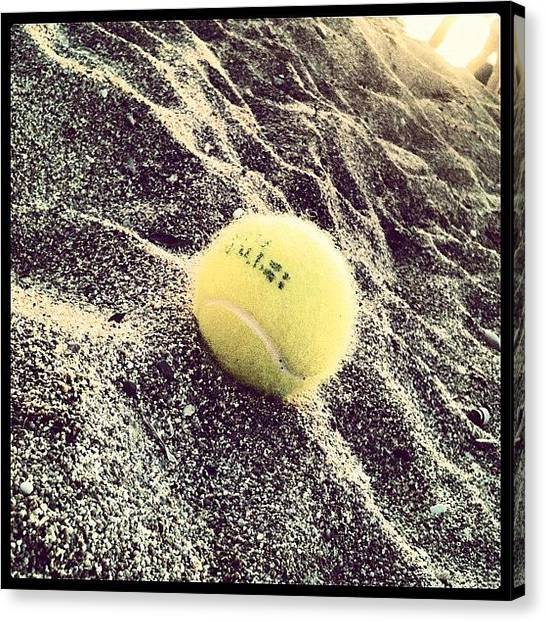 Tennis Ball Canvas Print - #tennis #ball #instagrammers by George sneyeper Vlachos